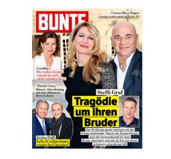 """Bild zu 52 Ausgaben der Zeitschrift """"Bunte"""" für 202,80€ + 150€ Verrechnungsscheck als Prämie"""