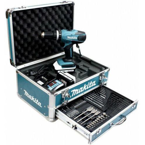 Bild zu MAKITA HP457DWEX4 Schlagbohrschrauber und Werkzeug-Set im Koffer für 189€ (VG: 229€)