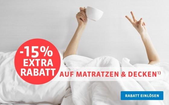 Bild zu Schlafwelt: 15% Extra-Rabatt auf Matratzen und Decken