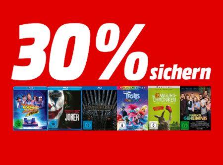 Bild zu MediaMarkt: großes Kino für kleines Geld – 30% Direktabzug auf viele 4K-Filme und Boxen, TV-Serien, DVD Filme und Blue Rays