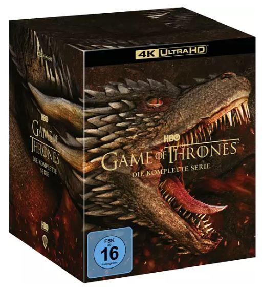 Bild zu Game of Thrones – Die komplette Serie 4K Ultra HD Blu-ray BOX für 119,45€ (VG: 167,99€)
