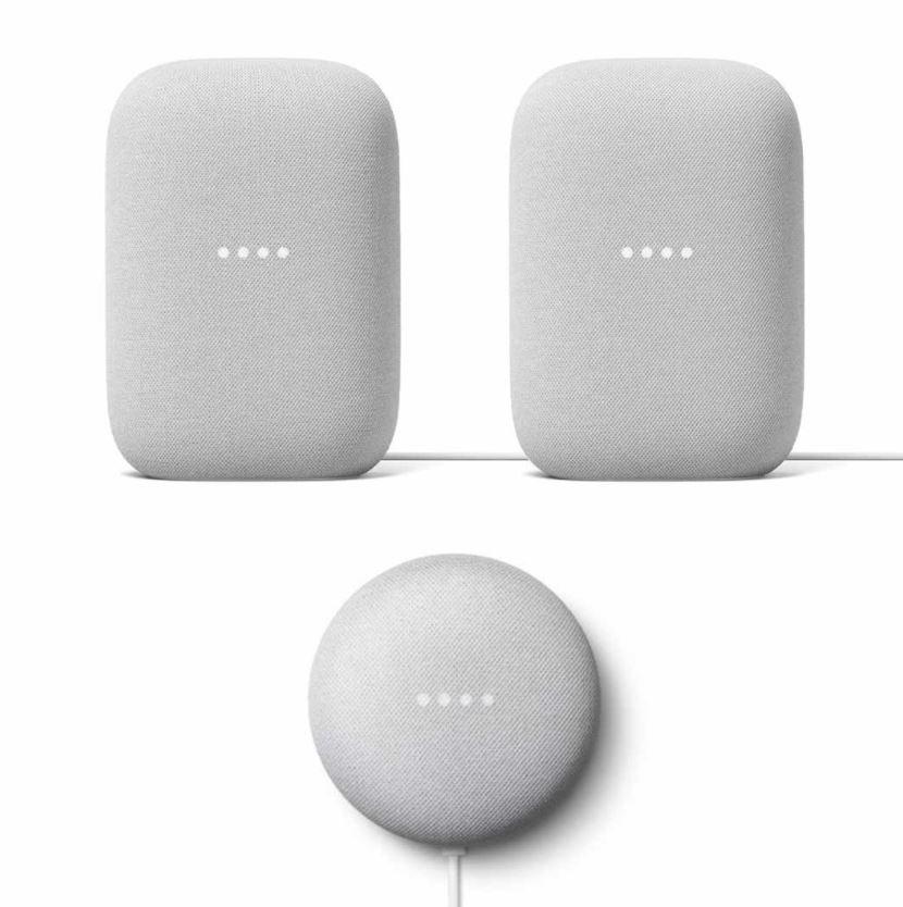 Bild zu 2x Google Nest Audio + 1x Google Nest Mini für 189,95€ (VG: 229€) + 6 Monate Spotify Premium Gratis