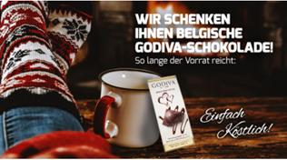 Bild zu Kaffeevorteil: 5€ Rabatt auf ausgewählte Kaffeemarken (ab 30€ MBW) + gratis Belgische Godiva Schokolade