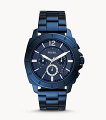 Bild zu Fossil Herrenuhr Privateer Sport Chronograph Edelstahl Blau für 75€ (Vergleich: 179,10€)