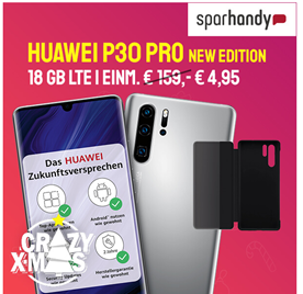 Bild zu Huawei P30 Pro NEW EDITION für 4,95€ (VG: 567,82€) mit 18GB o2 LTE Datenflat (bis 50Mbit), SMS und Sprachflat für 24,99€/Monat