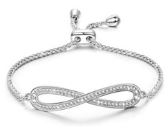 Bild zu Susan Y Damen Armband Endlose Liebe mit Kristallen von Swarovski für 12,99€