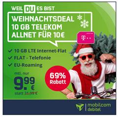 Bild zu [endet um 19 Uhr] Telekom Green mit 10GB LTE Datenflat und Sprachflat für 9,99€ im Monat