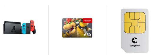 Bild zu Nintendo Switch Konsole (neue Version) + 50€ Nintendo Gutschein mit 8GB Datenflat, SMS und Sprachflat im Telekom Netz (Congstar) für 20€/Monat