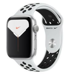 Bild zu Apple Watch Series 5 Nike 44mm GPS Silver für 328,99€ (Vergleich: 391,50€)