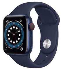 Bild zu Amazon.fr: Apple Watch Series 6 (GPS + Cellular, 40 mm) Aluminiumgehäuse Blau für 451,02€ (Vergleich: 505,63€)