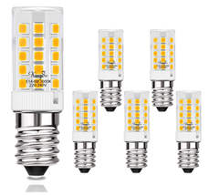 Bild zu 5er Pack KINGSO LED Leuchtmittel E14 (Warmweiss, 4W, 45l0m) für 7,12€