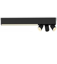 Bild zu Philips Hue White And Color Ambiance Centris 3er-Deckenspot Bluetooth in Schwarz für 286,39€ (VG: 350,90€)