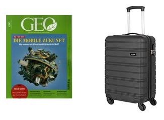 Bild zu [Super – nur nohc heute] 3 Ausgaben GEO für 26,40€ + gratis Travelite Trolley (Vergleich: 57,34€)