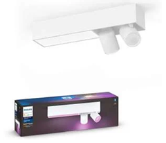 Bild zu Philips Hue White & Color Ambiance Centris 2er-Deckenspot Bluetooth in weiß für 201,64€ (Vergleich: 245,10€)