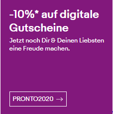 Bild zu eBay: 10% Rabatt auf digitale Reise- & Erlebnisgutscheine
