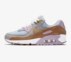 Bild zu Nike Air Max 90 Damen Sneaker Weiß/Twine/Light Orewood Brown/Sesame für 69,97€
