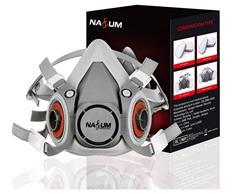 Bild zu NASUM Atemschutzmaske ohne Filter (geeignet unter anderem für Säge- und Schleifarbeiten) für 6,49€