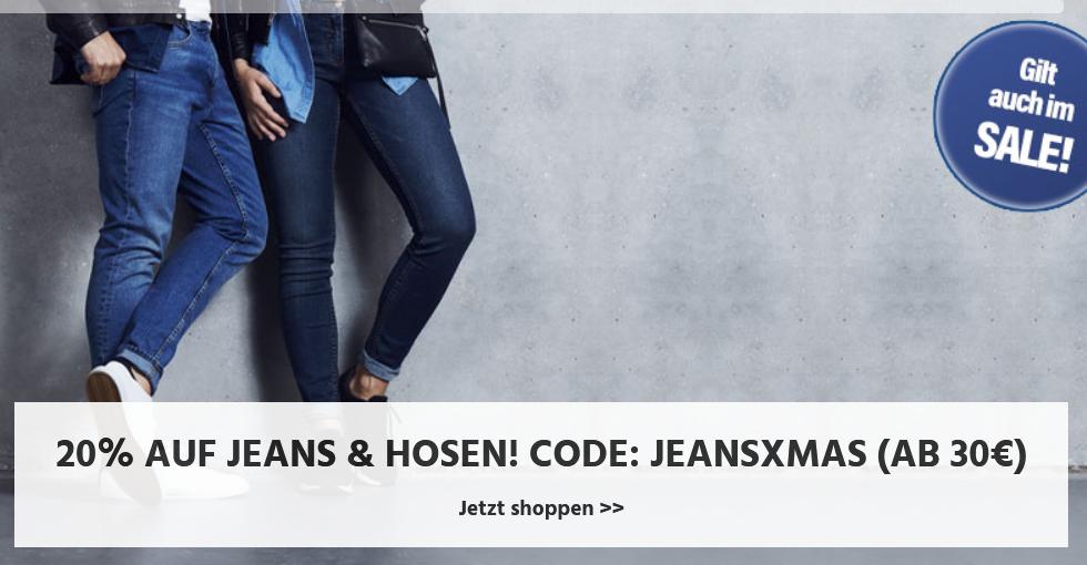 Bild zu Jeans Direct: 20% Rabatt auf Jeans und Hosen