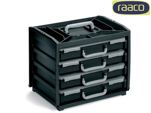 Bild zu Raaco HandyBox mit 4 Sortimentskästen für 50,90€ (Vergleich: 74,96€)