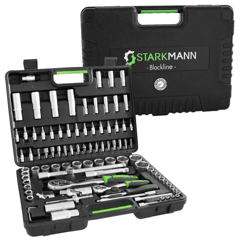 Bild zu 94-teiliger Starkmann Blackline Werkzeugkoffer für 29,99€ (Vergleich: 39,99€)