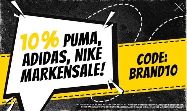 Bild zu SportSpar: 10% Extra-Rabatt auf die Marken Puma, Adidas und Nike