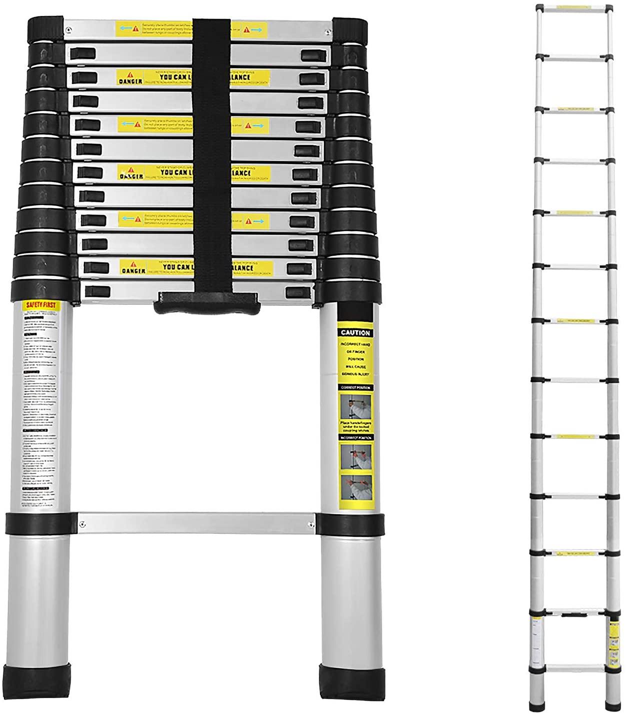 Bild zu Hengda Teleskopleiter mit 150 kg Belastbarkeit (verschiedene Ausführungen) mit 30% Rabatt