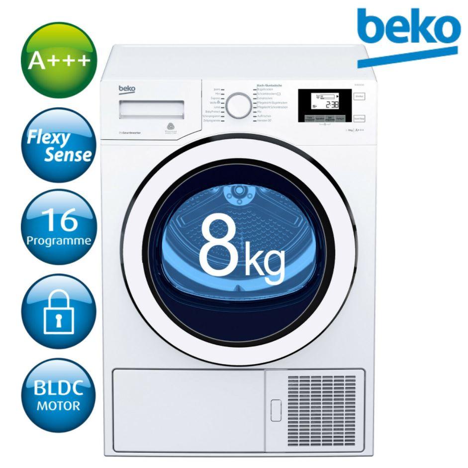 Bild zu Beko Wäschetrockner A+++ Wärmepumpentrockner DH8534GX0 8kg für 444,44€ (VG: 618,95€)