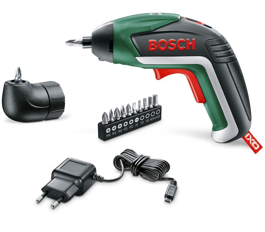 Bild zu Bosch Akkuschrauber IXO Generation V mit Winkeladapter für 34,94€ (VG: 53,40€)