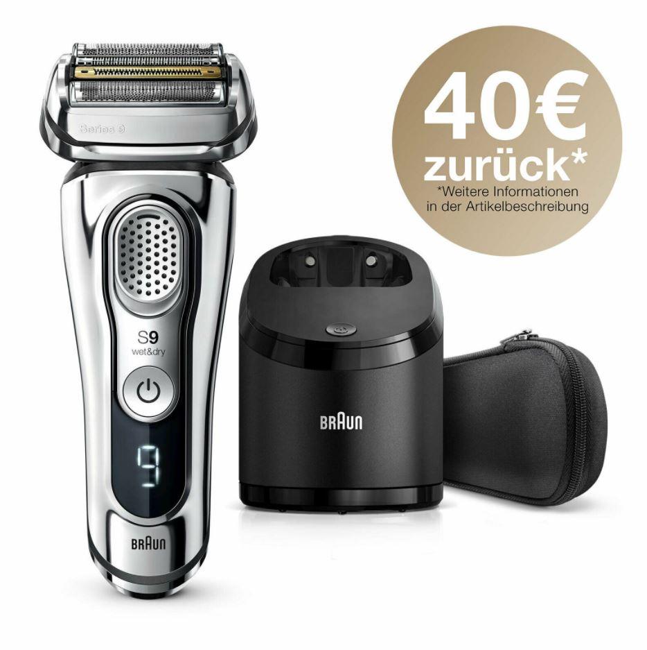 Bild zu Braun Series 9-9375cc System wet&dry Schnellladung Akku-Rasierer + Ladestation für 209,90€ (VG: 259,90€) + 40€ Cashback
