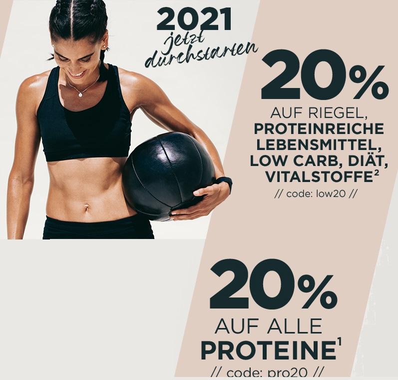 Bild zu Fitmart: 20% Rabatt auf alle Proteine und 20% Rabatt auf Riegel