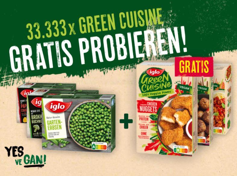 Bild zu Iglo Green Cuisine (fast) gratis testen dank Kaufpreiserstattung