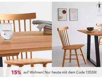 """Bild zu Otto.de: nur heute 15% Rabatt auf den Bereich """"Wohnen"""" + kostenloser Versand, so z.B. Wohnwand (4teilig) für 152,99€"""