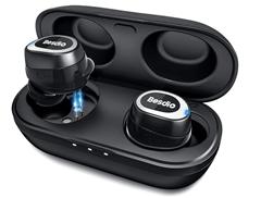 Bild zu BesDio Bluetooth 5.0 Kopfhörer (Tiefer Bass-Stereo-Sound, Knopfsteuerung, Dual integriertes Mikrofon, wasserdicht) für 11,99€