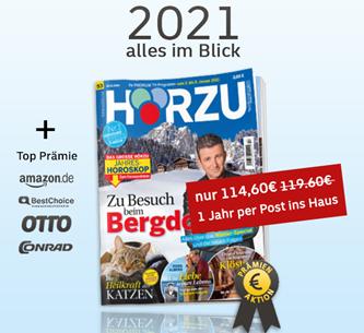 Bild zu [Leserservice Deutsche Post] Jahresabo Hörzu für 114,60€ + bis zu 110€ Prämie