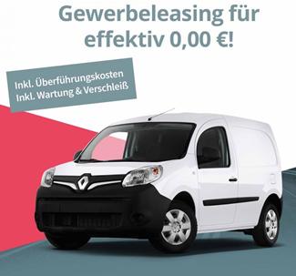 Bild zu [Gewerbeleasing] Renault Kangoo Z.E. inkl. Navi und Überführungskosten, Wartung und Verschleiß für effektiv 0€