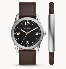 Bild zu Fossil Herrenuhr Ledger in Leder Braun + Armband für 48,30€