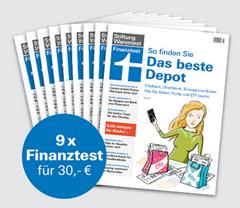 """Bild zu 9 Ausgaben Finanztest (Vergleich: 47,97€) + Finanztest """"Alles über Aktien"""" (Vergleich: 14,90€) + Notizbuch für 30€"""
