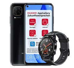 Bild zu Huawei P40 Lite mit Watch GT inkl. gratis Huawei Watch GT mit 5GB LTE Datenflat, SMS und Sprachflat für 12,99€/Monat