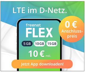 Bild zu [Top] freenet FLEX Tarif im Vodafone Netz ohne Anschlussgebühr (sonst 10€)– bis 06.02. sogar gratis testen