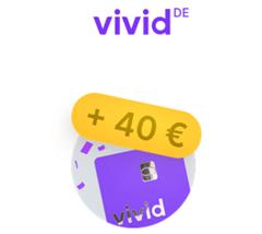 Bild zu Vivid: kostenloses Girokonto (inkl. Visa Debit) mit 40€ Neukundenbonus + Metall Visa Debit Karte (optional), ApplePay + z.B. aktuell 21% Cashback bei DM
