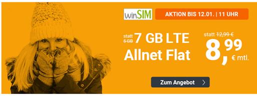Bild zu o2 Tarif mit einer 7GB LTE Datenflat, SMS und Sprachflat für 8,99€/Monat