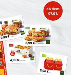 Bild zu McDonalds Gutscheine Januar 2021, so z.B. 20 Nuggets für 4,99€