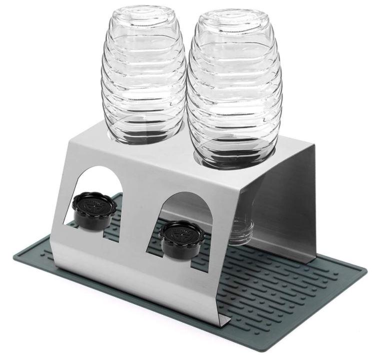 Bild zu KING DO WAY Sodastream Abtropfständer aus Edelstahl für 2 Flaschen für 14,88€