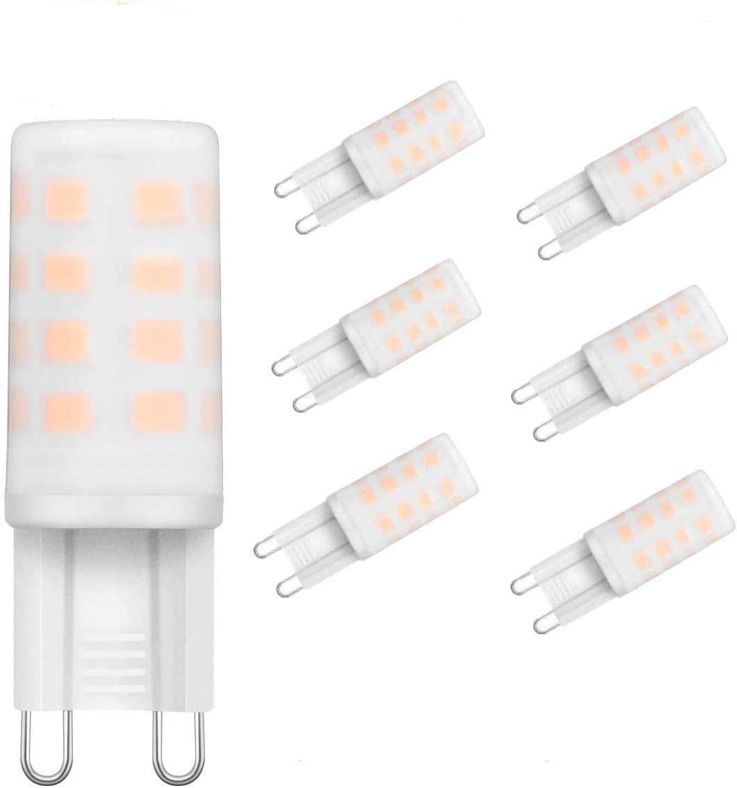 Bild zu 6er Pack KINGSO 4W G9 LED-Lampen (3.000 k, Warmweiß, 300 Lumen) für 4,99€
