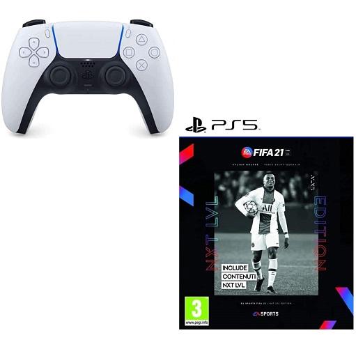 Bild zu Sony PS5 DualSense Wireless-Controller und FIFA 21 Next Level Edition [PS5] für 92,28€ (Vergleich: 124,90€)