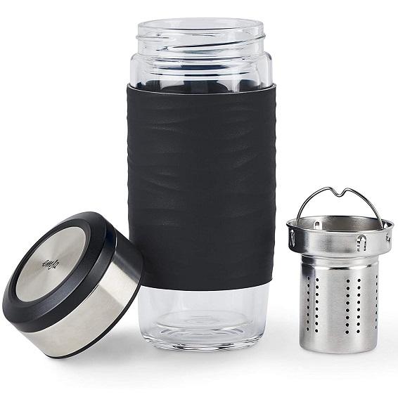 Bild zu 0,4 Liter Emsa Teebecher aus doppelwandigem Glas mit herausnehmbaren Sieb für 17,99€