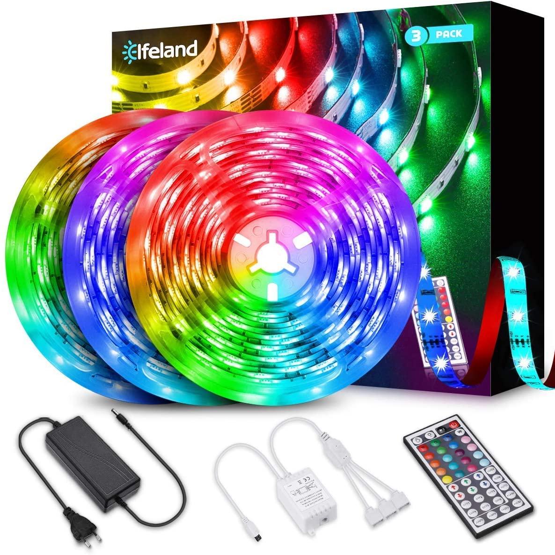 Bild zu 12 Meter Elfeland RGB LED-Strip mit 360 LEDs (3 x 4 Meter) für 17,33€