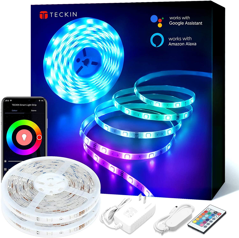Bild zu 2 x 5 Meter TECKIN RGB LED-Strip kompatibel mit Alexa und Google Assistant für 23,99€