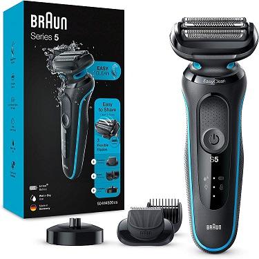 Bild zu Herren Elektrorasierer Braun Series 5 50-M4500cs Wet & Dry mit EasyClick-Trimmer für 87,85€ (Vergleich: 118,15€)