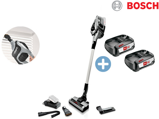 Bild zu Akku-Bodenstaubsauger Bosch Unlimited BCS1ULTD mit zwei Akkus für 308,90€ (Vergleich: 369,98€)